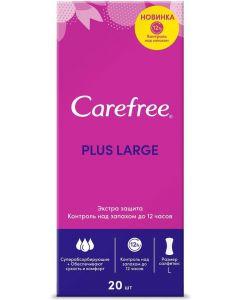 Buy Carefree Plus 'Large' panty liners, 20 pcs | Online Pharmacy | https://buy-pharm.com