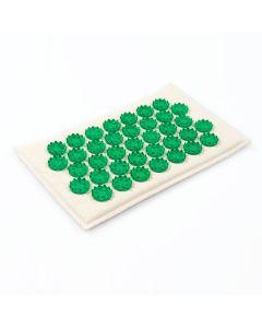 Buy Tibetan massager-applicator on a soft backing, for sensitive skin, color: green, 12x22 cm | Online Pharmacy | https://buy-pharm.com