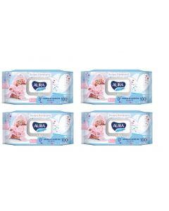 Buy Wet wipes SET 100 pcs., for children AURA 'Ultra comfort', hypoallergenic, alcohol-free, lid-valve, 6486 (4 pieces)   Online Pharmacy   https://buy-pharm.com