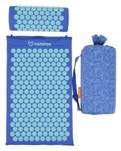 Buy Massage acupuncture mat and roller Comfox Classic, massager-applicator, blue | Online Pharmacy | https://buy-pharm.com
