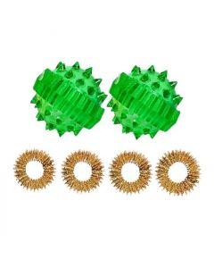 Buy Su-Jok ball and ring Set of 2 pieces green | Online Pharmacy | https://buy-pharm.com