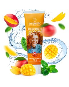 Buy Synergetic Toothpaste Complex-formula 7in1 'MANGO + MINT' natural, no fluoride, 100g   Online Pharmacy   https://buy-pharm.com