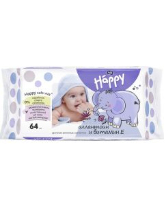 Buy Bella baby Happy Baby Wet Wipes Delicate Lotion with vitamin E 64 pcs | Online Pharmacy | https://buy-pharm.com