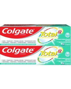 Buy Colgate Total 12 Toothpaste Professional cleaning (gel), complex, antibacterial, 2 pieces of 75 ml each  | Online Pharmacy | https://buy-pharm.com