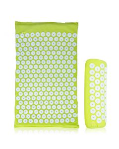Buy Massage acupuncture mat Goodly Acupuncture, massager and applicator on a soft backing and roller, in a bag, light green | Online Pharmacy | https://buy-pharm.com