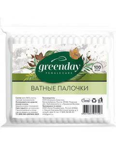 Buy Greenday Cotton swabs in a bag, 100 pcs | Online Pharmacy | https://buy-pharm.com