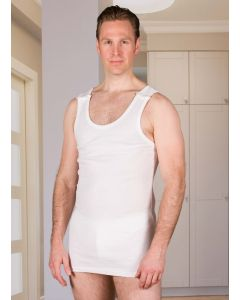 Buy Adaptive underwear Undershirt mens clasps buttons on both shoulders (Size 44), S, 168g  | Online Pharmacy | https://buy-pharm.com