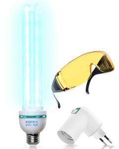 Buy Bactericidal / UV lamp (25 W) + goggles + adapter / 3 in 1 set | Online Pharmacy | https://buy-pharm.com