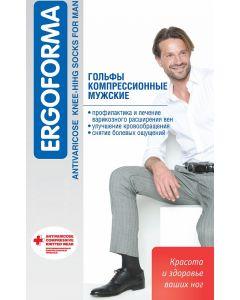Buy Compression knee-highs for men Ergoforma, color: black. 313. Size 4 | Online Pharmacy | https://buy-pharm.com