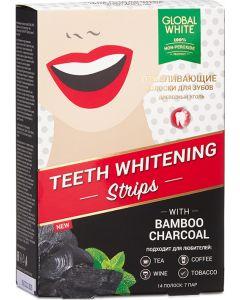 Buy Global White Teeth Whitening Strips Charcoal 7 DAYs | Online Pharmacy | https://buy-pharm.com