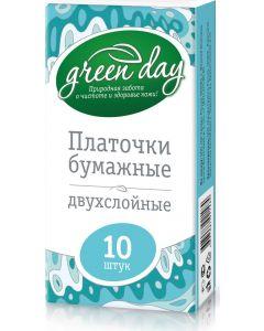Buy Greenday Paper handkerchiefs, 2-ply, 10 pcs | Online Pharmacy | https://buy-pharm.com