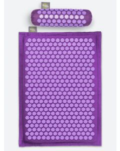 Buy Massage acupuncture set: mat + roller + Relaxmat backpack, purple. Promotes relaxation and relief from back pain and headaches. Made in Russia. | Online Pharmacy | https://buy-pharm.com