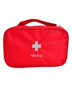 Buy First aid kit bag for home and travel, medicine bag with 3 compartments, soft case, red, 24x14x8cm | Online Pharmacy | https://buy-pharm.com