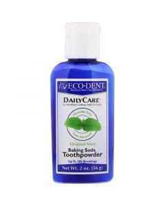 Buy Eco-Dent, Daily Care, Baking Soda Tooth Powder, Original Mint, 2 oz (56 g)   Online Pharmacy   https://buy-pharm.com