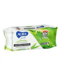 Buy Aura Wet Wipes, antibacterial, 70 pcs   Online Pharmacy   https://buy-pharm.com