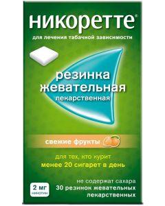 Buy Nicorette Chewing gum, fresh fruit, 2 mg, # 30 | Online Pharmacy | https://buy-pharm.com