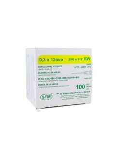 Buy Disposable sterile needle 0.30 x 13 mm ( 30G) SFM, Germany # 100 | Online Pharmacy | https://buy-pharm.com