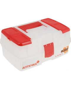 Buy First aid kit Blocker 'Ambulance', with compartments, transparent, 29 x 17 x 13 cm | Online Pharmacy | https://buy-pharm.com