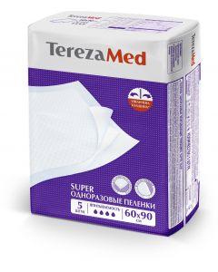 Buy TerezaMed medical diaper disposable absorbent Super 60 x 90 cm 5 pcs, 60 x 90 cm, 5 pcs | Online Pharmacy | https://buy-pharm.com