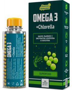 Buy Oil Compass of Health 'Chlorella' encapsulated 300 mg, 180 capsules, 54 g | Online Pharmacy | https://buy-pharm.com