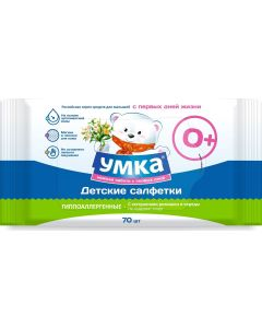 Buy Umka Wet baby wipes, 70 pcs | Online Pharmacy | https://buy-pharm.com