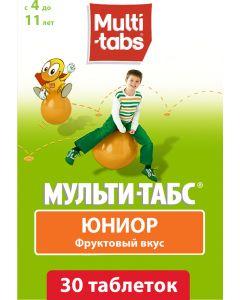 Buy Multi-tabs Junior chewable Tablets, fruit taste, No. 30 | Online Pharmacy | https://buy-pharm.com