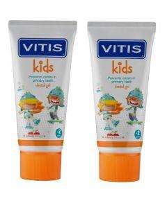 Buy Dentaid Set of children's toothpastes-gels for children VITIS kids, 50 ml х 2 pcs. | Online Pharmacy | https://buy-pharm.com