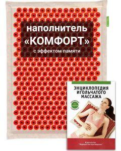 Buy Tibetan applicator Kuznetsov's laboratory on a soft pad, 'comfort' filling with memory effect, less sharp needles, magnetic inserts, 41x60 cm, red   Online Pharmacy   https://buy-pharm.com