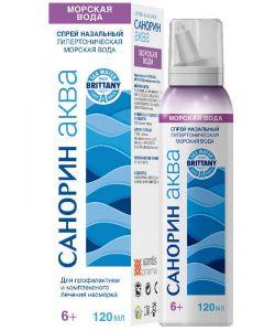 Buy Sanorin Aqua Sea water hypertonic nasal spray,120 ml | Online Pharmacy | https://buy-pharm.com