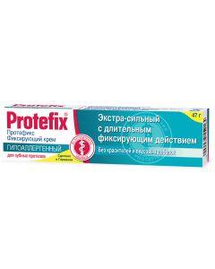 Buy Fixing cream for dentures Protefix, hypoallergenic, extra strong, 47 g | Online Pharmacy | https://buy-pharm.com