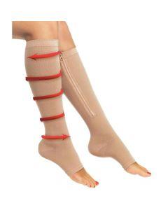 Buy Compression knee-highs Zip Sox, size L-XL (beige) | Online Pharmacy | https://buy-pharm.com