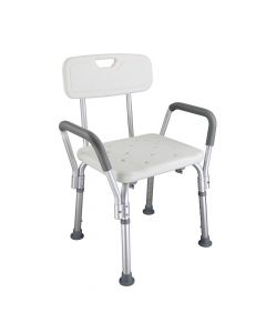 Buy Ergonomic bathroom chair for the elderly CST-3052 White | Online Pharmacy | https://buy-pharm.com