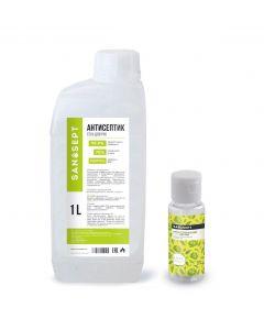 Buy San Sept Gel Antiseptic (sanitizer) for hands 1 liter + bottle 100 ml, alcohol 70%, aloe aroma | Online Pharmacy | https://buy-pharm.com
