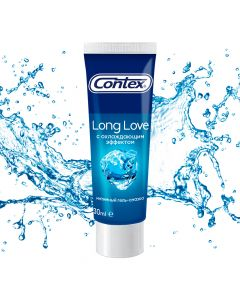 Buy Contex Long Love intimate lubricating gel, with a cooling effect, 8187, 30 ml | Online Pharmacy | https://buy-pharm.com