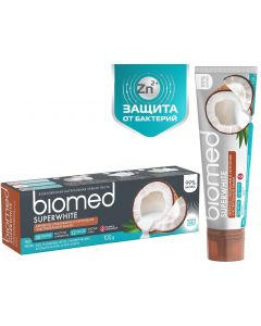 Buy Biomed Superwhite Toothpaste, for sensitive enamel, coconut, 100 g | Online Pharmacy | https://buy-pharm.com