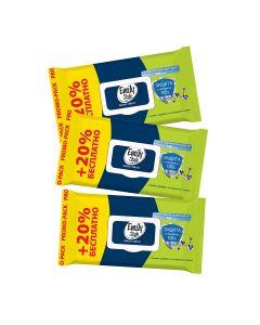 Buy Emily Style wet wipes Antibacterial 120 pcs., package with lid (+ 20% FREE), (3 packs) | Online Pharmacy | https://buy-pharm.com