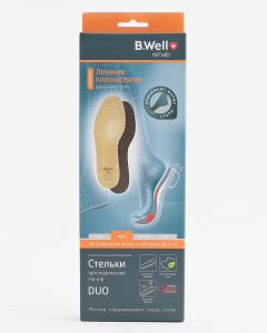 Buy B.Well soft insoles, with support for the longitudinal-transverse arches of the foot, leather, DUO, FW-618 MED, size 39 | Online Pharmacy | https://buy-pharm.com
