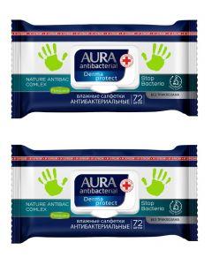 Buy Aura antibacterial wet wipes, set of 2 packs of 72 pcs.   Online Pharmacy   https://buy-pharm.com