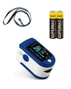 Buy Medical pulse oximeter (oximeter), finger heart rate monitor for measuring oxygen in the blood, batteries included, MD30021 | Online Pharmacy | https://buy-pharm.com