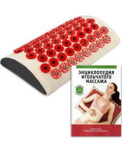 Buy Tibetan applicator Kuznetsov's Laboratory lumbar roller on a soft backing, less sharp needles, red | Online Pharmacy | https://buy-pharm.com