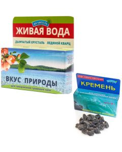 Buy et, Water activators, Taste of nature 50g, box. (smoky crystal + ice quartz), flint 50 gr, cleansing, water enrichment, Alpaca | Online Pharmacy | https://buy-pharm.com