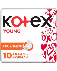 Buy Kotex Feminine hygiene pads with wings 'Young. Normal', 10 pcs | Online Pharmacy | https://buy-pharm.com