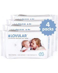 Buy Lovular wet wipes set, 4 packs of 64 each  | Online Pharmacy | https://buy-pharm.com