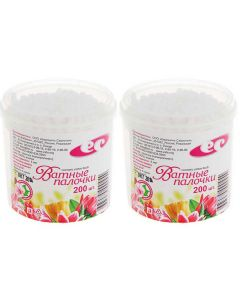 Buy Emelyan Savostin Cosmetic cotton buds, in a jar, 200 pcs, 2 packs | Online Pharmacy | https://buy-pharm.com
