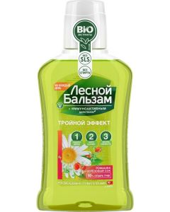 Buy Forest Balsam Balm-rinse for mouth With chamomile extract and birch sap 250 ml  | Online Pharmacy | https://buy-pharm.com
