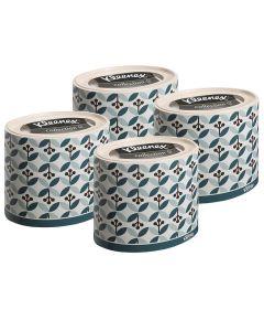 Buy 75388/4 Set of Paper napkins for the face Kleenex, round box, green leaflets, 3-sl, 64 pcs x 4 pack | Online Pharmacy | https://buy-pharm.com