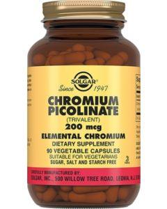 Buy Solgar, Chromium Picolinate 'Chromium Picolinate', 200 mcg, 90 capsules | Online Pharmacy | https://buy-pharm.com