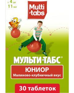 Buy Tablets Multi-tabs Junior chewable raspberry-strawberry flavor, # 30 | Online Pharmacy | https://buy-pharm.com