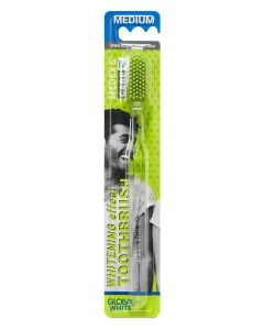 Buy Whitening Toothbrush / Medium Medium Transparent Handle / Green Bristles | Online Pharmacy | https://buy-pharm.com