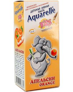 Buy AQUARELLE KIDS Children's toothpaste, orange flavor, 50 ml | Online Pharmacy | https://buy-pharm.com